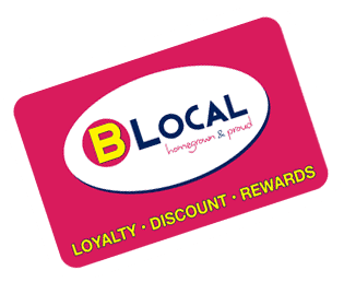 B Local is the locally focussed, small business loyalty program