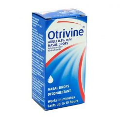 Otrivine Adult Nasal Drops 0.1% 10ml