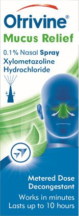 Otrivine Decongestant Mucus Relief 0.1% Nasal Spray 10ml
