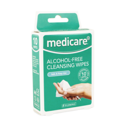 Medicare Alcohol-Free Cleansing Wipes 10pk