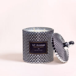LC Aromas Raindrop Collection Silver - Rock Salt & Driftwood Candle