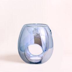 LC Aromas Luxury Wax Melt Burner – Clear Grey/Blue